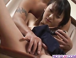 Sayaka Tsutsumi bends over to get her  - More at hotajp.com