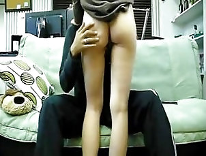 Homemade amateur Korean schoolgirl rides her nerdy school male friend