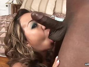 Asian babe, Keeani Lei fucks a black guy all day