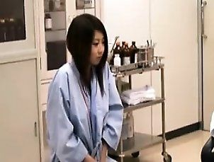 Asian girls are the subject of boob exams by a lot of docto