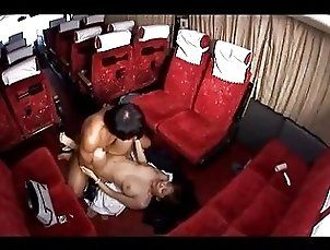 Busty Bus Attendant Fucked Cum To Belly Sucking Cock On The Bus