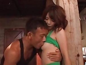 Yura Kurokawa grabs huge dick and starts riding it hard