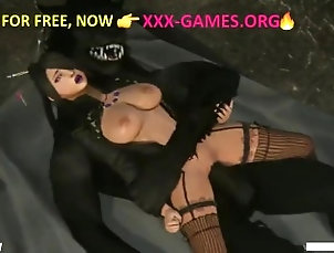 Hard sex with werewolf in adult game