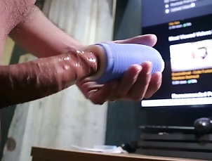 Edging Asian Big Cock with Sextoy and Ruined Orgasm