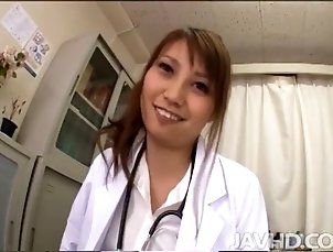 Adorable Japanese nurse Ebihara Arisa loves her job and all