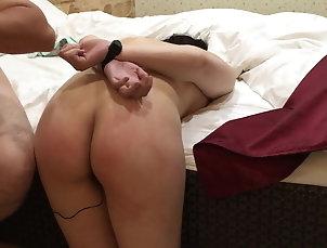 Asian sex slave girl get spanking