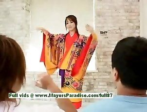 Miina hot girl stunning Chinese doll gets nipples licked