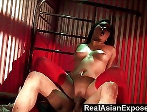 RealAsianExposed - Slutty Asian Stuffing a Huge Cock In Her