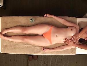 JAV star Asahi Mizuno CMNF erotic oil massage Subtitled