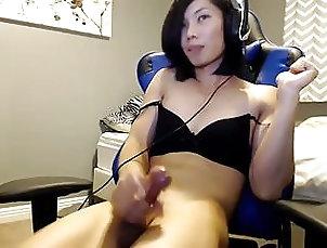 Sexy asian ts cums 6