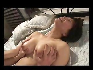 Horny Asian MILF gets her hairy pussy fucked till she scream