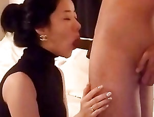 Tasty Korean chick blows and rides a pike with passion